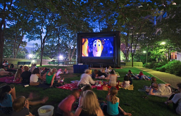 Watch a movie outdoors - Bucket List Ideas