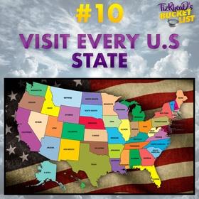 Visit every US State - Bucket List Ideas
