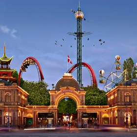 Ride Rollercoaters at Tivoli Gardens Amusement Park in Copenhagen - Bucket List Ideas