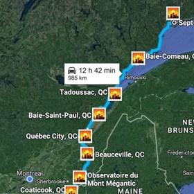 ⚜️ Go on a roadtrip across Quebec - Bucket List Ideas