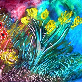 Create a picture with fingerpaint - Bucket List Ideas