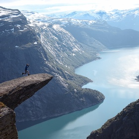 Stand on Trolltunga rock in Norway - Bucket List Ideas