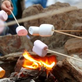 Beach Bonfire with marshmallows - Bucket List Ideas