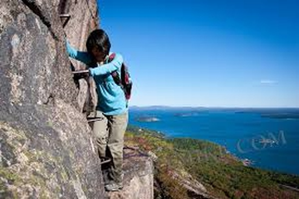 Hike 'Precipice trail' in Maine (USA) - Bucket List Ideas