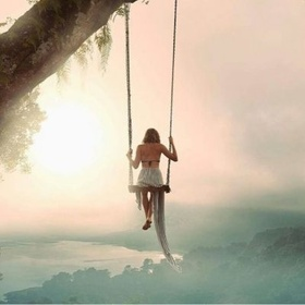 Sit on Wanagiri Hidden Hills Swing~Bali - Bucket List Ideas