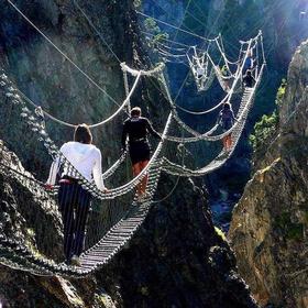 Walk the The Tibetan Bridge - Bucket List Ideas