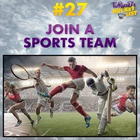Join A Sports Team - Bucket List Ideas