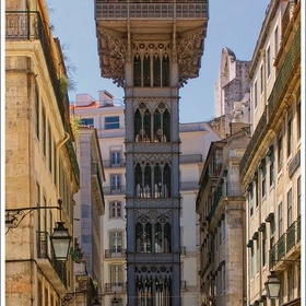 Walk the stairs in Elevador de Santa Justa ~Portugal - Bucket List Ideas