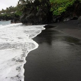 Go to a Black Sand Beach - Bucket List Ideas