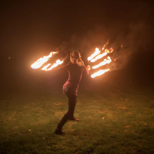 Dance with Fire Fans - Bucket List Ideas
