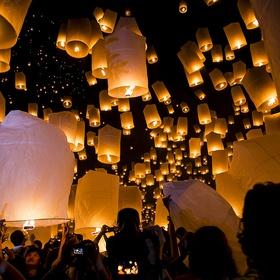 Attend a Flying Lantern Festival - Bucket List Ideas