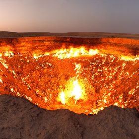 "Travel to the ""Door to Hell,"" in Derweze, Turkmenistan - Bucket List Ideas"