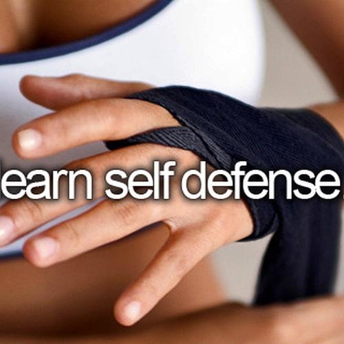 Learn self defense - Bucket List Ideas