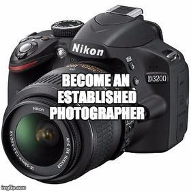 Become an established photographer - Bucket List Ideas