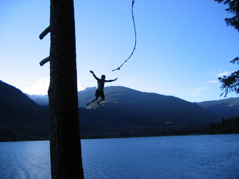 Bucketlist rope swing into water official bucket list for Swing over water