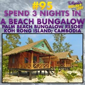 Spend 3 Nights in a Beach Bungalow - Bucket List Ideas