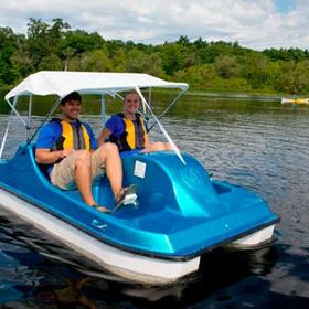 Ride on a foot pedal boat - Bucket List Ideas