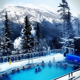 Visit the hot springs in the Canadian Rockies - Bucket List Ideas