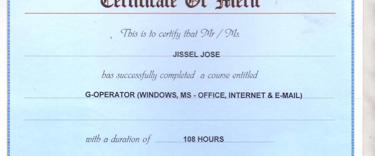 Bucketlist Study Ms Office And Get Certificate Jissel Jose