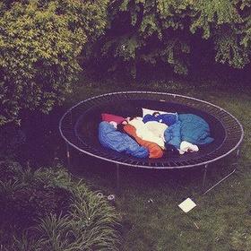 Sleep on a huge trampoline - Bucket List Ideas
