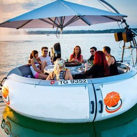 Have a BBQ in a donut boat - Bucket List Ideas