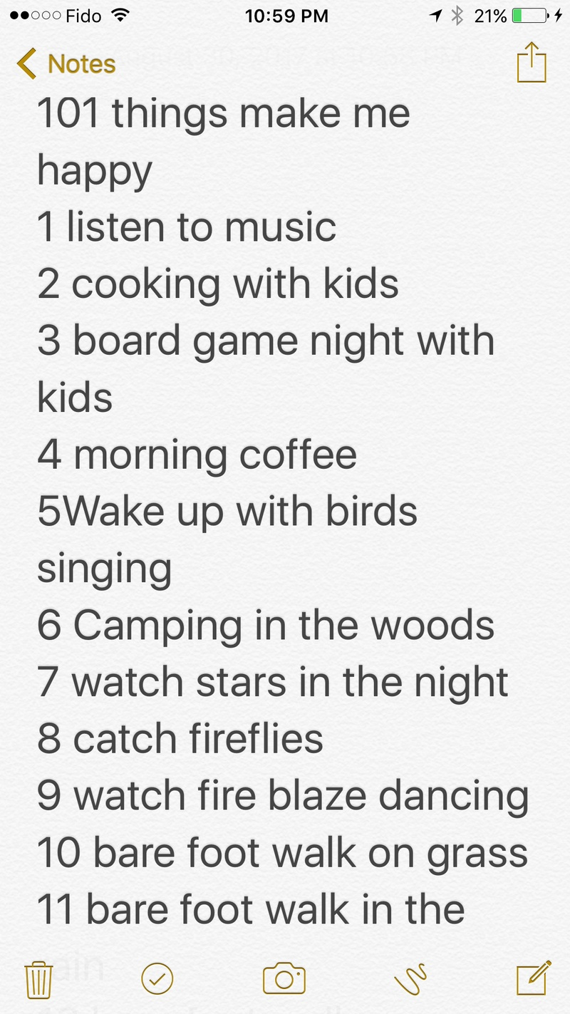 10 simple things I do to be happy
