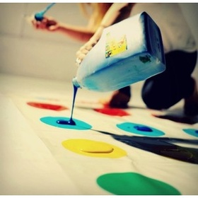 Play twister with paint on the dots - Bucket List Ideas