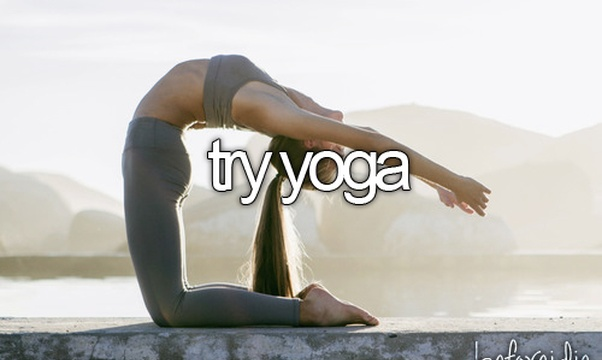 Try yoga - Bucket List Ideas