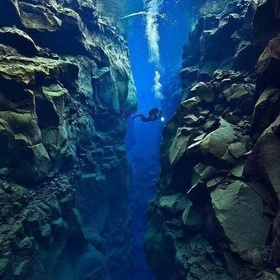 Tectonic plate gap between Europe and North America - the small gap between the two Continents - Bucket List Ideas