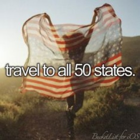 Visit all 50 states in the United States - Bucket List Ideas
