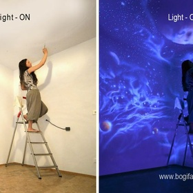 Make A Glow in the Dark Painting and/or Mural - Bucket List Ideas