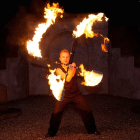 Learn to dance with double fire staffs - Bucket List Ideas