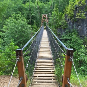 Walk across the Lava Canyon Suspension Bridge in Washington - Bucket List Ideas