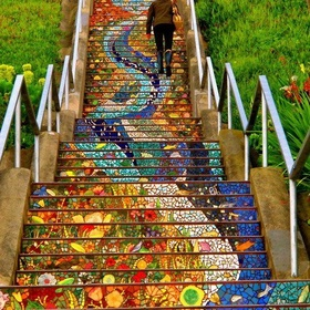 Find the Secret Tiled Staircase in CA - Bucket List Ideas