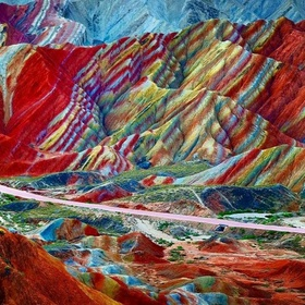 See the Rainbow Mountains in China - Bucket List Ideas
