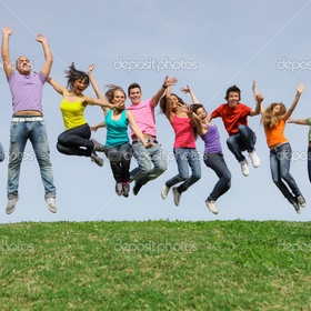 Take cheesy jumping picture with a group of friends - Bucket List Ideas