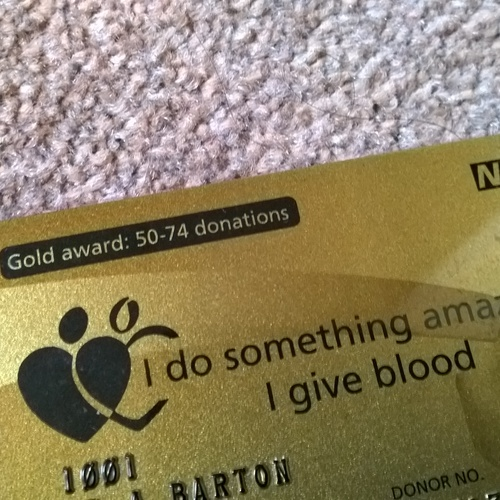 Donate 50 pints of blood - Bucket List Ideas
