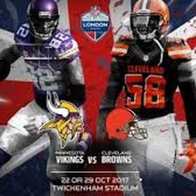 Vikings vs. Browns NFL London 2017 - Bucket List Ideas