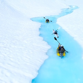 Kayak in Canada's remote glaciers - Bucket List Ideas