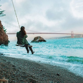 Swing on the Kirby Cove Rope Swing in San Francisco - Bucket List Ideas