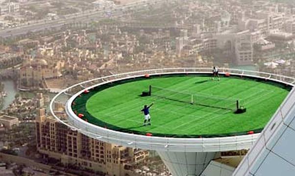 Play on the World Highest Tennis Court Dubai - Bucket List Ideas