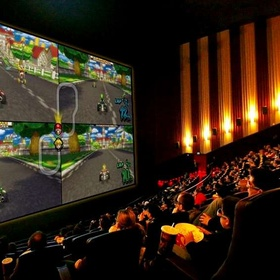 Play a video game on a cinema screen - Bucket List Ideas