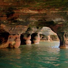 Swim through the Sea caves in Wisconsin - Bucket List Ideas
