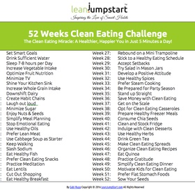 Complete the 52-Week Clean Eating Challenge By Gabi Rupp - Bucket List Ideas
