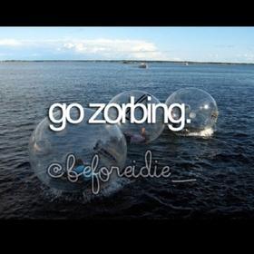 Go Zorbing - Bucket List Ideas