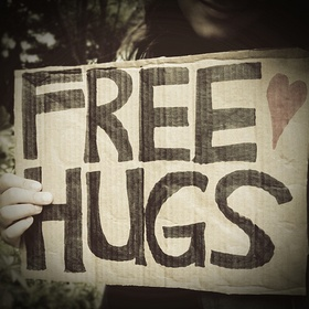 "Walk around with a ""Free Hugs"" sign - Bucket List Ideas"