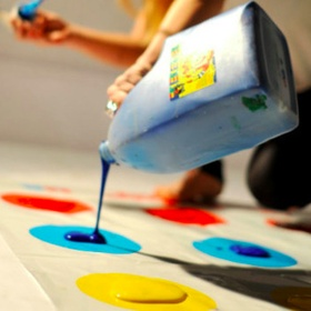 "Play ""messy twister"" - Bucket List Ideas"
