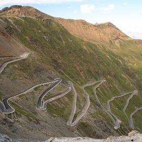 Drive on Stelvio Pass, Eastern Alps, Italy - Bucket List Ideas