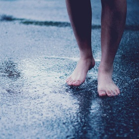 Walk Barefoot in the Rain - Bucket List Ideas