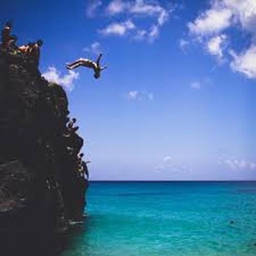 Jump off a cliff into water - Bucket List Ideas